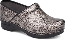 Dansko Pro XP Clog for Women in Silver Ornate Patent