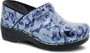 Dansko Pro XP 2.0 Clog for Women in Blue Paisley Patent 36