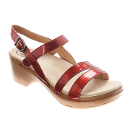 Dansko Surraya Sandal for Women in Red Patent LIMITED PLEASE CALL