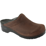 Sanita Karl Clog Textured Oiled Leather for Men