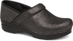 Dansko Professional Clog For Women In Black Metallic Suede