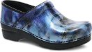 Dansko Professional Clog For Women in Blue Brush Patent
