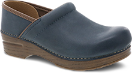 Dansko Professional Clog for Women in Blue Burnished Nubuck