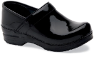 Dansko Professional Clog for Women in Black Patent-Wide Widths
