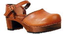 Sanita Gerda Wood Plateau Clog for Women Tan 41