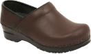 Sanita Professional Full-Grain Leather Linda Clog For Women in Brown