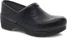 Dansko LT Pro Clog for Women in Black Floral Tooled