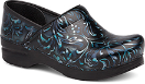 Dansko Professional Clog For Women in Blue Damask Patent 42