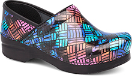 Dansko Professional Clog For Women in Color Weave Patent