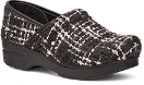 Dansko Fabric Professional Black Textured Clog for Women